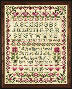 Cross Stitch Kit Stitcher Sampler, Counted Cross Stitch Kit 3233