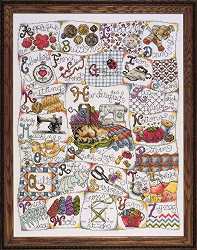 Cross Stitch Kit Stitching ABC, Counted Cross Stitch Kit 2731
