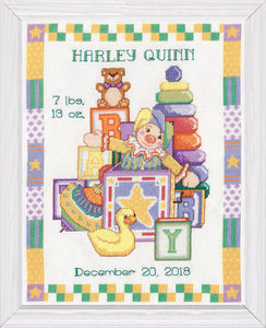 Cross Stitch Kit Toys Birth Sampler, Counted Cross Stitch Kit T21776