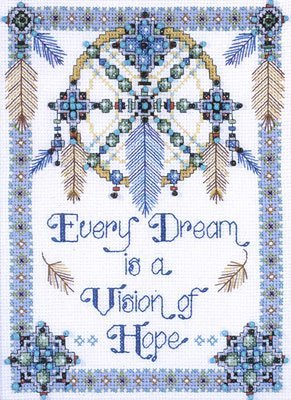 Cross Stitch Kit Vision of Hope, Counted Cross Stitch Kit 2354