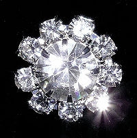 Diamante Button, Crystal Embellishment, Rosette Flower 4062 -14mm
