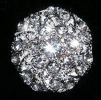 Diamante Button, Crystal Embellishment, Victoriana 4928 -19mm