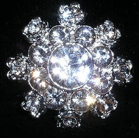 Diamante Button, Crystal Embellishment, Evening Star 4920 -20mm