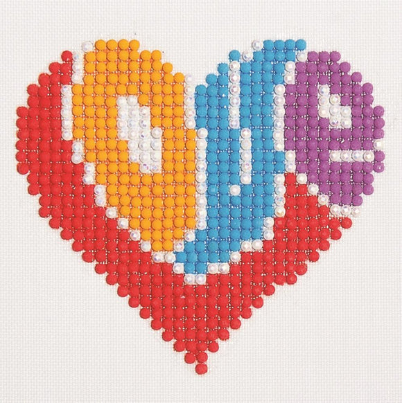 Diamond Dotz Kit, Love Heart Kit DD1.007