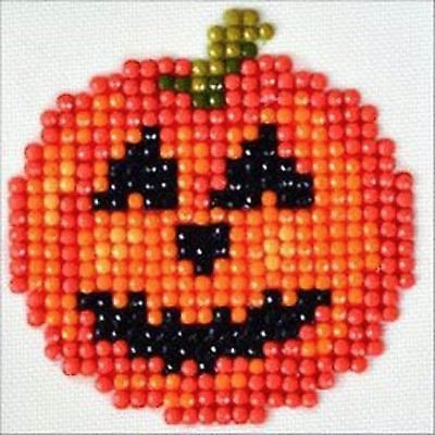 Diamond Dotz Kit, Happy Halloween Pumpkin Mini Kit DDS.024