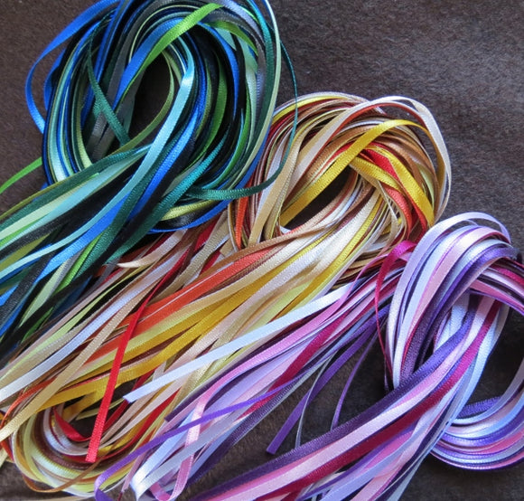 3mm Double Faced Satin Ribbon Collection - 2m each/28 colours