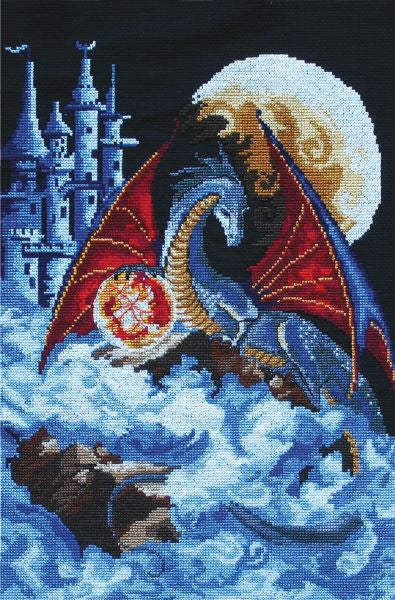 Dragon of the Blue Cross Stitch Kit, Panna F-0580