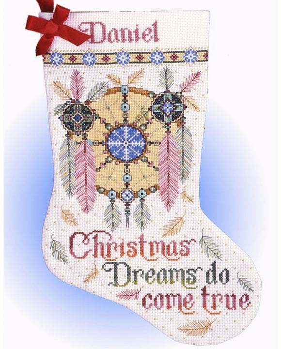 Dreamcatcher Christmas Stocking Cross Stitch Kit, Design Works 5411