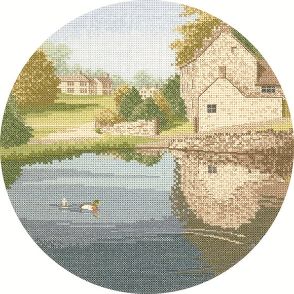 Duck Pond Cross Stitch Kit, John Clayton Circles, Heritage Crafts