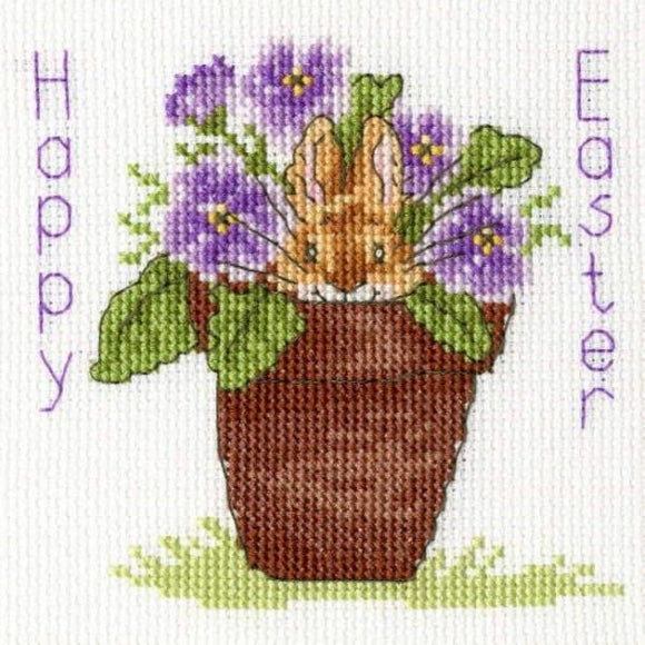 Happy Easter Cross Stitch Kit Greeting Card, Bothy Threads XGC19