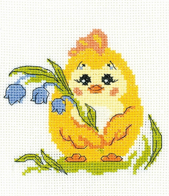 Easter Chick Cross Stitch Kit, Riolis HB-120
