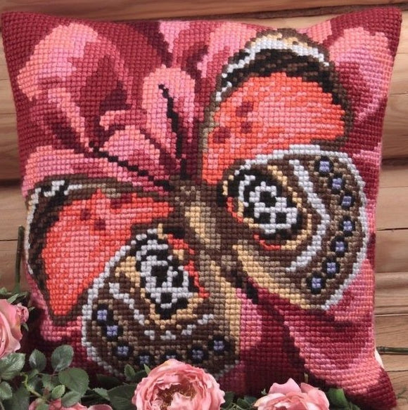 Elegant Butterfly CROSS Stitch Tapestry Kit, Collection D'Art CD5078