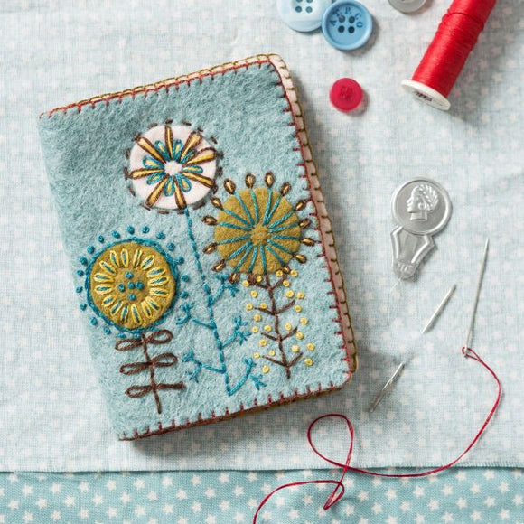 Needle Case Wool Felt Embroidery Kit, Corinne Lapierre