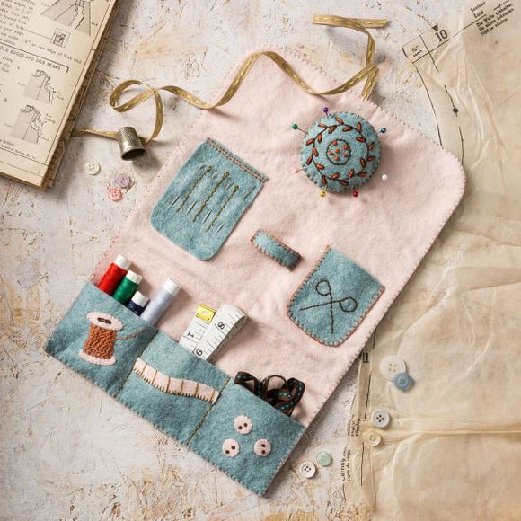 Sewing Roll and Pin Cushion Wool Felt Embroidery Kit, Corinne Lapierre