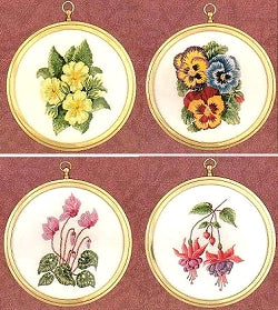 Embroidery Kit Floral Miniatures, Design Perfection - Set of 4