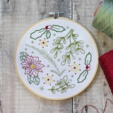 Winter Walk Embroidery Kit with Hoop, Hawthorn Handmade