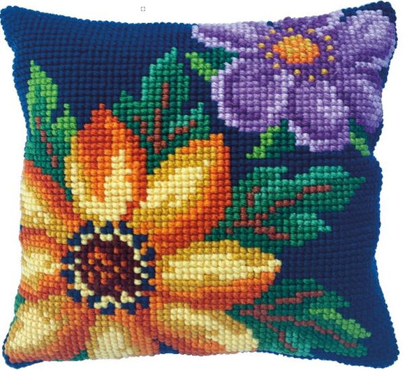 Evening Bloom CROSS Stitch Tapestry Kit, Needleart World LH9-017