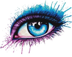 Eye Purple, Counted Cross Stitch Kit (Blue Eye) -Carissa Rose