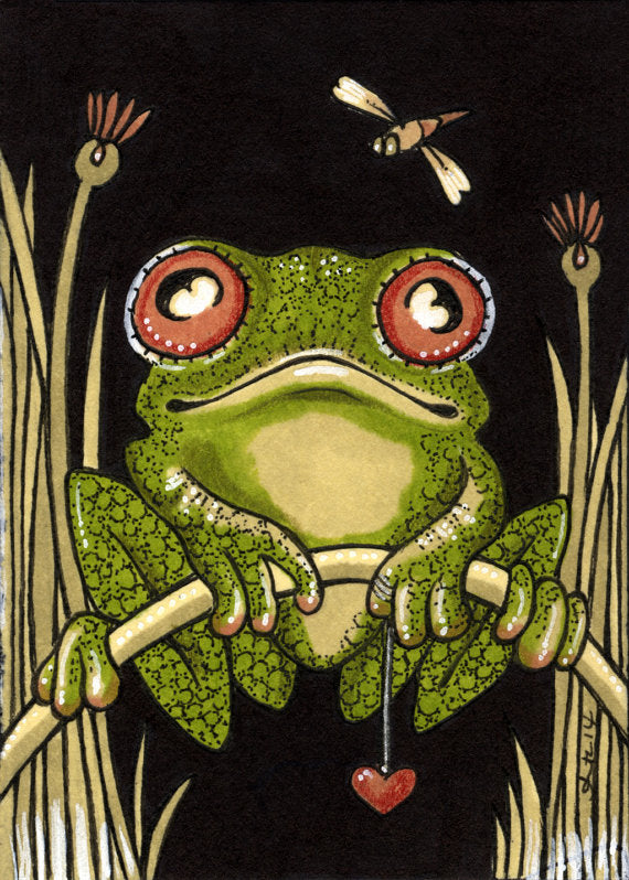 Fred Frog, Modern Counted Cross Stitch Kit -Anita Inverarity