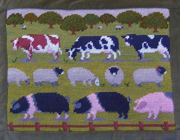 Farm Animals Tapestry Kit, Needlepoint Kit, The Fei Collection