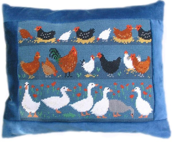 Farm Birds Tapestry Kit, Needlepoint Kit, The Fei Collection
