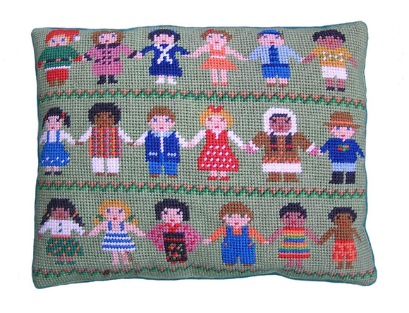 Children of the World Tapestry Kit, Needlepoint Kit, The Fei Collection