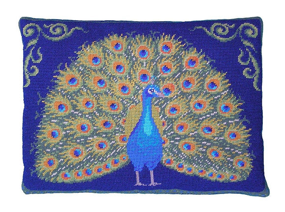 Peacock Display Tapestry Kit Needlepoint Kit, The Fei Collection