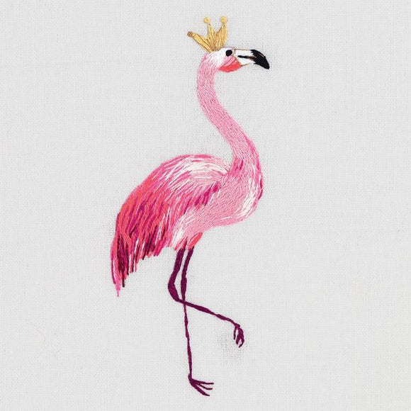 Flamingo Embroidery Kit, Panna JK-2178