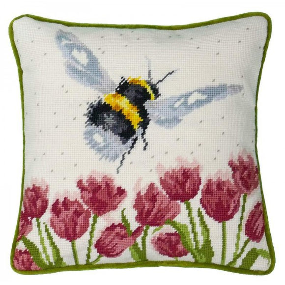 Flight of the Bumble Bee Tapestry Kit, Needlepoint Kit Bothy Threads THD41