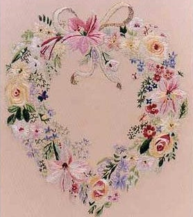 Embroidery Kit Floral Heart, Design Perfection E2000