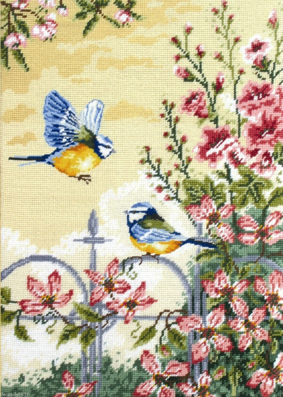Floral Railings Tapestry Kit Needlepoint, Anchor MR163