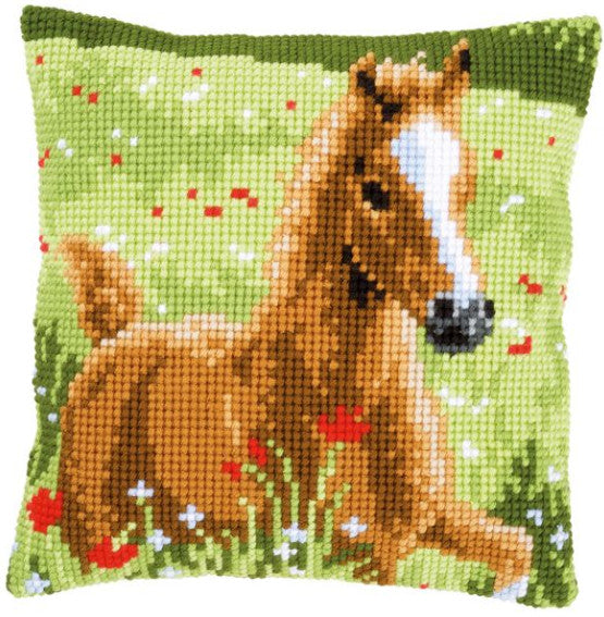 PN-0155267 Vervaco Cross Stitch Cushion Front Kit Donkey