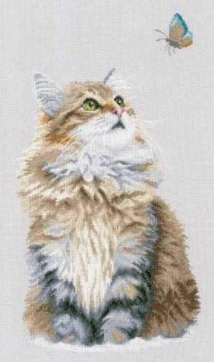 Forest Cat Cross Stitch Kit, Lanarte pn-0156878