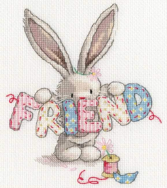 Friend Cross Stitch Kit, Bebunni, Bothy Threads XBB16