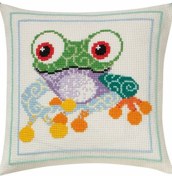 Frog Cross Stitch Kit, Permin 83-3876