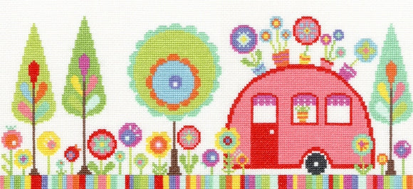 Funky Caravan Cross StitchKit, Bothy Threads XCR2