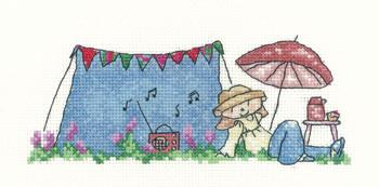 Garden Festival Cross Stitch Kit, Little Stars, Heritage Crafts