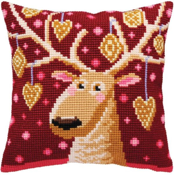 Gingerbread Stag CROSS Stitch Tapestry Kit, Collection D'Art CD5390