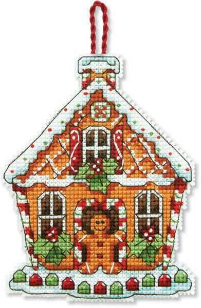 Gingerbread House Ornament Cross Stitch Kit, Dimensions D70-08917