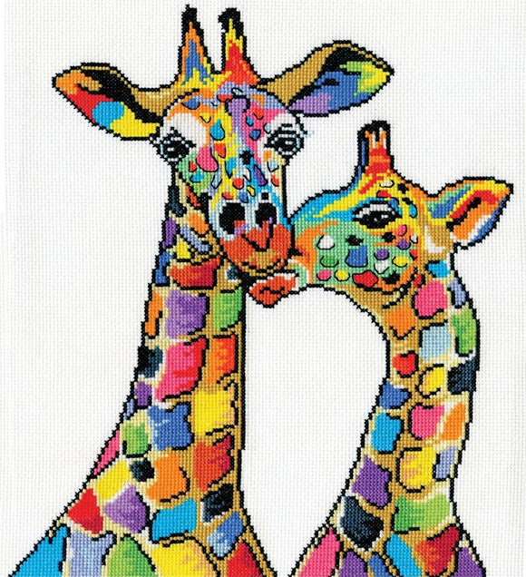 Giraffes Cross Stitch Kit, Design Works 3258