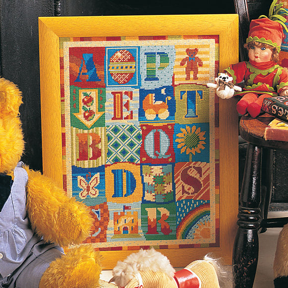 Glorafilia Tapestry Kit Needlepoint Kit Alphabet GL5036