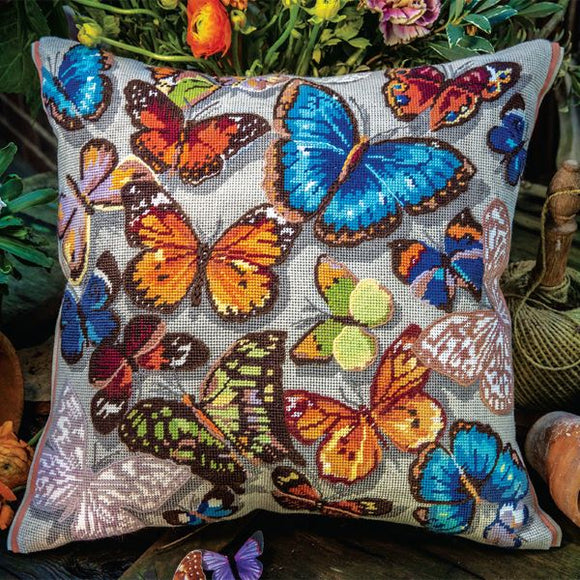 Glorafilia Butterflies Tapestry Kit Needlepoint Kit