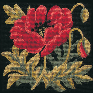 Glorafilia Tapestry Kit Needlepoint Kit Poppy Mini GL4187
