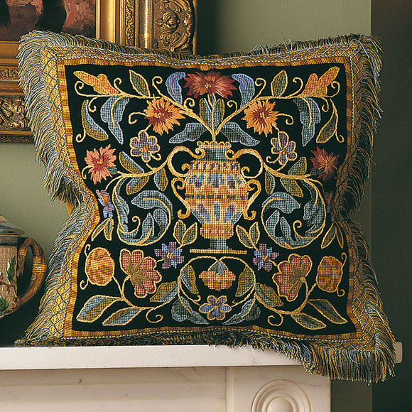Renaissance Cushion, Glorafilia Needlepoint Kit GL5015
