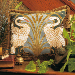 Glorafilia Tapestry Kit Needlepoint Kit Swans Cushion GL4174A