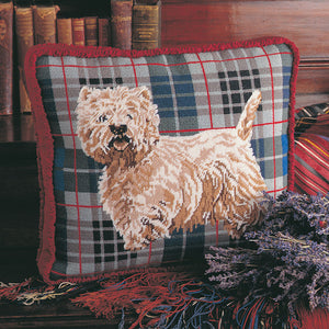 Glorafilia Tapestry Kit Needlepoint Kit Tartan Westie GL511