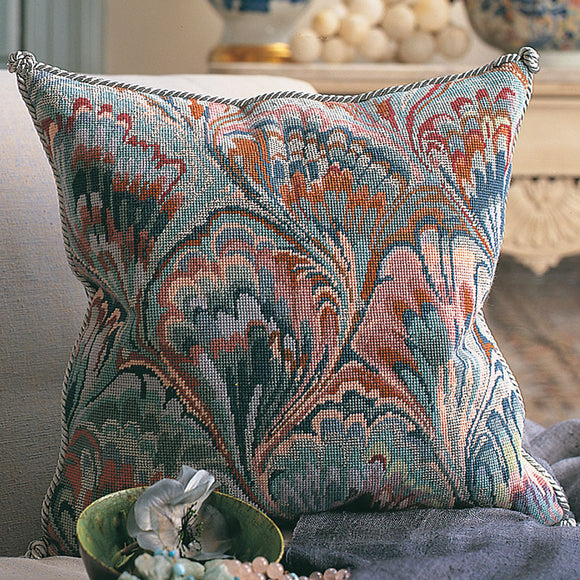 Glorafilia Tapestry Kit Needlepoint Kit Marbled Cushion GL457A