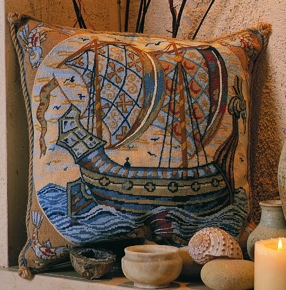 Glorafilia Needlepoint Tapestry Kit, William de Morgan Galleon GL5009