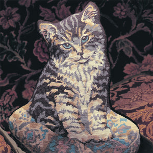Glorafilia Tapestry Kit Needlepoint Kit Kitten on a Cushion GL592