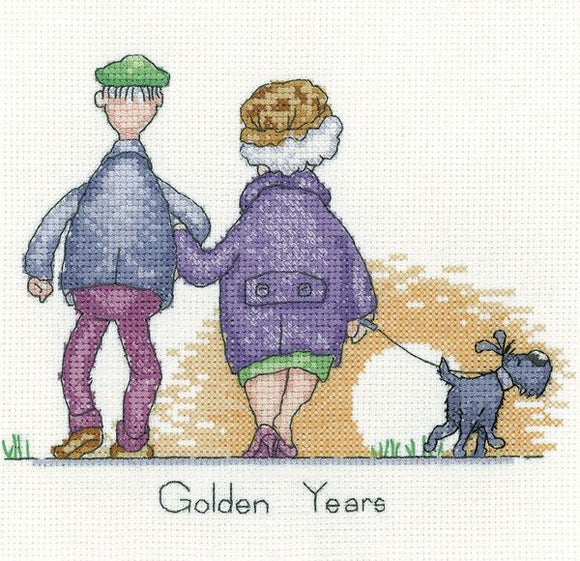 Golden Years Cross Stitch Kit, Heritage Crafts GYGY1574